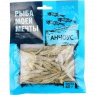 Анчоус «Рыба моей мечты» солено-сушеный, 40 г.