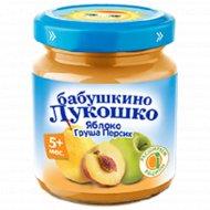 Пюре «Бабушкино Лукошко» из яблок, груш и персиков, 100 г.