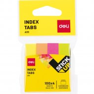 Закладки бумажные, А11102, 50х12мм, 4 цвета, неон, 100 листов.