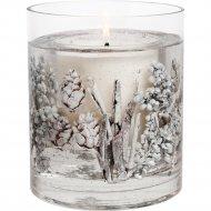 Подсвечник «Новогодний» стеклянный со свечой 9х8 см.