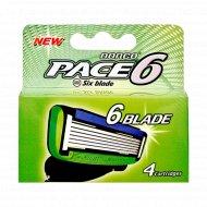 Сменные кассеты для бритвы с 6 лезвиями DORCO PACE 6 , 4 шт.