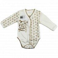 Полукомбинезон детский КЛ.290.007.0.026.005/006, бело-коричневый.