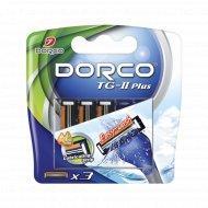 Сменные кассеты бритвы с 2 лезвиями «DORCO» TG-II Plus типа SLALOM, 3 шт.