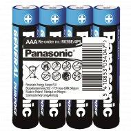 Элемент питания «Panasonic» General Purpose R03, AAA, солевой, 4 шт.