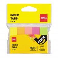Закладки бумажные, A11402, 50х15 мм, 5 цветов, 100 листов.