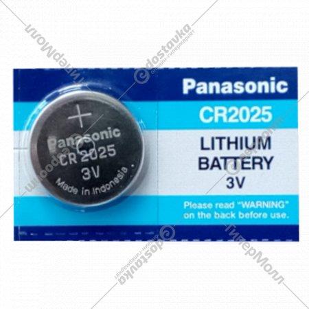 Элемент питания «Panasonic» Lithium CR2025, литиевый, 1 шт.
