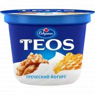 Йогурт «Греческий Teos» грецкий орех и мед, 2%, 250 г.