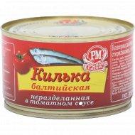Консервы рыбные килька «Балтийская» в томатном соусе, 230 г.