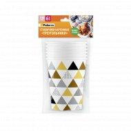 Бумажные стаканы «Paterra» треугольники, 330 мл, 6 шт. в упаковке.