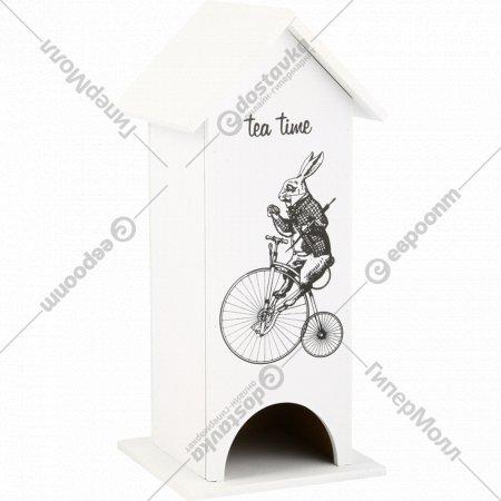 Чайный домик «Белый кролик» 12x12x27 см.