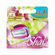 Сменные кассеты для бритвы с 6 лезвиями DORCO SHAI Sweetie (3+1 Бесплатно).
