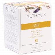 Чайный напиток «Althaus Pyra Pack» лемон минт, 15 пакетиков.