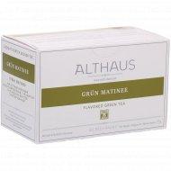 Чай зеленый «Althaus Deli Packs» грюн матинэ, 20 пакетиков.