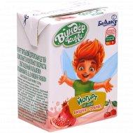 Йогурт питьевой «Вундер кини» вишня-гранат 1.6%, 210 г.
