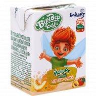 Йогурт питьевой «Вундер кини» персик-дыня 1.6%, 210 г.