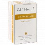 Чайный напиток «Althaus» женьшеневое равновесие, 20 пакетиков.