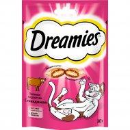 Лакомство «Dreamies» для взрослых кошек с говядиной, 30 г.