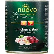 Консервы для щенков «Nuevo» с курицей, говядиной и рисом, 800 г