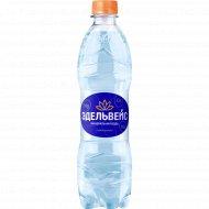 Вода минеральная лечебно-столовая «Эдельвейс» газированная, 0.5 л.