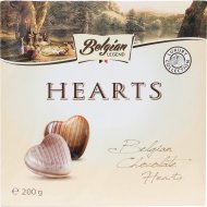 Конфеты шоколадные «Belgian Legend» в форме сердечек, 200 г.