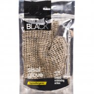 Рукавица-мочалка «Suavipiel» Black sisal glove.