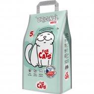 Наполнитель для туалета «For Cats» Original White, 5 л