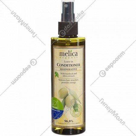 Кондиционер «Melica» несмываемый, с экстрактом лопуха и оливы, 200 мл.