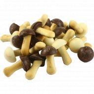 Печенье затяжное «Елисеевские грибочки» в ассортименте, 1 кг., фасовка 0.3-0.35 кг