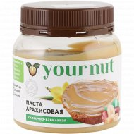 Паста арахисовая «Your Nut» сливочно-ванильная, 250 г.