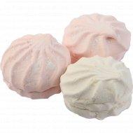 Зефир «Бело-розовый» 1 кг., фасовка 0.45-0.5 кг
