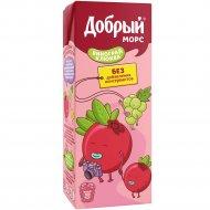 Морс «Добрый» из винограда и клюквы, 0.2 л.