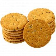 Печенье сахарное «Napoletan» с семенами льна, 1 кг., фасовка 0.35-0.4 кг