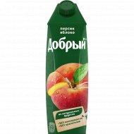 Нектар «Добрый» персиково-яблочный, 1 л.