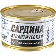 Консервы рыбные «Сардина атлантическая» с маслом, 230 г.