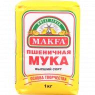 Мука пшеничная «Makfa» высший сорт, 1 кг.