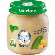 Овощное пюре «Gerber» картофель и кабачок, 130 г.