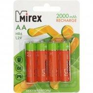 Комплект аккумуляторов «Mirex», HR6-20-E4, 4шт.