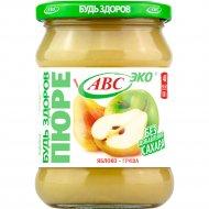 Пюре фруктовое «Будь здоров» яблоко-груша, 450 г.