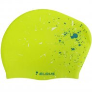 Шапочка для плавания «Dark Shark» Elous, EL006, брызги/зеленый