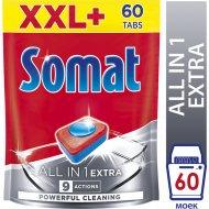 Таблетки для посудомоечных машин «Somat» All in 1 Extra, 60 шт