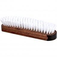 Щетка для одежды «Основной уход» деревянная, искуственный ворс, 15 см.