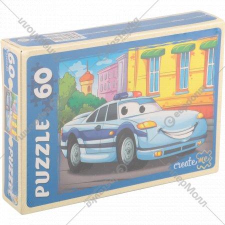 Пазлы «Полицейская машинка» 60 элементов.
