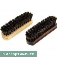 Щетка для обуви «Основной уход» деревянная с конским волосом, 10 см.