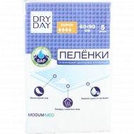 Пеленки гигиенические впитывающие «Dry day, super», 90х60 см, 5 шт.