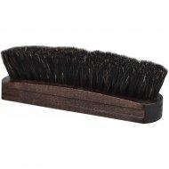 Щетка для обуви «Основной уход» деревянная с конским волосом, 15 см.