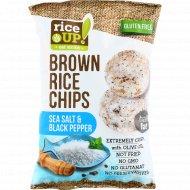 Цельнозерновые чипсы «Brown Rice Chips» с морской солью и черным перцем, 60 г.