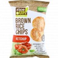 Цельнозерновые чипсы «Brown Rice Chips» со вкусом кетчупа, 60 г.