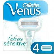 Сменные кассеты для бритвы «Gillette Venus» Sensitive, 4 шт.