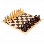 Шахматы обиходные лакированные с доской 29х14.5х3.8 см.