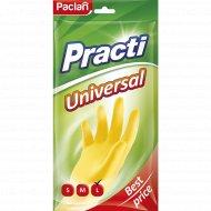 Перчатки резиновые «Practi.Universal» желтые, размер L.